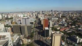 Visión aérea Largo da Ordem en el centro de Curitiba Curitiba/Paraná En julio de 2017 metrajes