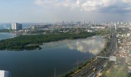 Visión aérea, Manila imagen de archivo