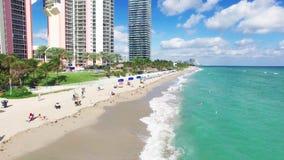 Visión aérea Miami Beach del norte metrajes