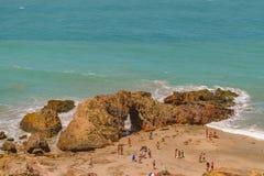 Visión aérea Pedra Furada Jericoacoara el Brasil Foto de archivo libre de regalías