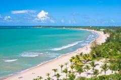 Visión aérea, playa de Puerto Rico Foto de archivo