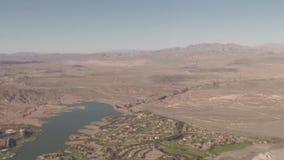 Visión aérea que vuela sobre Grand Canyon metrajes