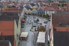 Visión aérea Schwandorf Imagen de archivo libre de regalías