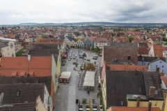 Visión aérea Schwandorf Foto de archivo libre de regalías