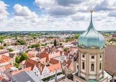 Visión aérea sobre Augsburg fotografía de archivo