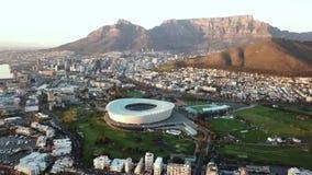 Visión aérea sobre Cape Town, Suráfrica almacen de video