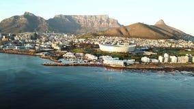 Visión aérea sobre Cape Town, Suráfrica metrajes