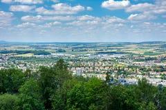 Visión aérea sobre Coburgo fotografía de archivo