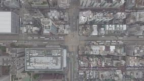 Visión aérea sobre Kowloon, impostor Shui Po, en la reserva de Hong Kong en archivo de registro almacen de metraje de vídeo