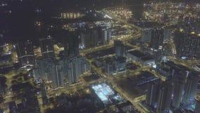 Visión aérea sobre Kowloon, impostor Shui Po, en la reserva de Hong Kong en archivo de registro almacen de video