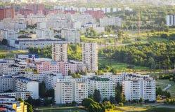 Visión aérea sobre la ciudad Imagen de archivo libre de regalías