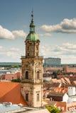 Visión aérea sobre la ciudad de Erlangen fotos de archivo libres de regalías