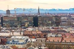 Visión aérea sobre la ciudad de Munich Foto de archivo