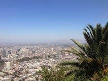 Visión aérea sobre Santiago de Chile Fotos de archivo