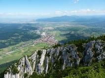 Visión aérea Zarnesti Foto de archivo libre de regalías