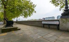 Visión abajo Chelsea Embankment London Fotografía de archivo
