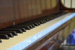 Visión abajo de un piano Fotografía de archivo