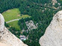 Visión abajo en el valle de Yosemite Fotografía de archivo