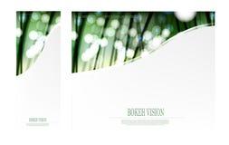 Visión abstracta del bokeh del vector en el diseño más forrest de la plantilla Foto de archivo libre de regalías