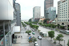 Visión agradable desde la calle que camina (di BO de Pho) Fotografía de archivo libre de regalías