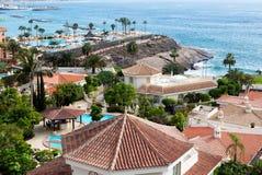 Visión agradable desde la ventana del hotel Imagenes de archivo