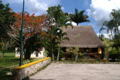 Visión al aire libre en Chichen Itza, México Fotos de archivo