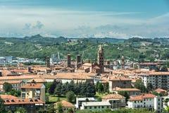 Visión Alba desde arriba, Italia Fotografía de archivo libre de regalías