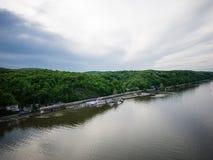 Visión amplia sobre el Hudson Foto de archivo