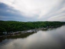 Visión amplia sobre el Hudson Imagen de archivo libre de regalías