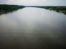 Visión amplia sobre el Hudson Imagen de archivo