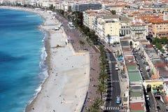 visión asombrosa, 'promenade' Anglais, Niza Foto de archivo libre de regalías