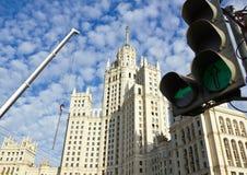 Visión con el edificio alto Imágenes de archivo libres de regalías