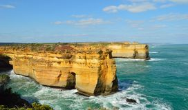 Visión costera a lo largo del gran camino del océano foto de archivo libre de regalías