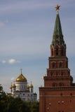 Visión Cristo la catedral del salvador de Moscú Foto de archivo libre de regalías