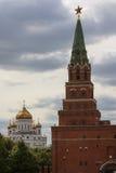 Visión Cristo la catedral del salvador de Moscú Fotos de archivo