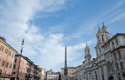 Visión de conjunto de la plaza Navona en Roma fotografía de archivo