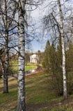 De la Rotonda clásico en parque temprano de la primavera Foto de archivo