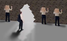 Visión del asunto - concepto de ventana de la oportunidad Fotos de archivo libres de regalías
