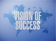 visión del concepto de la muestra del mapa del mundo del éxito Foto de archivo