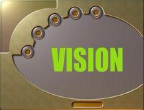 Visión del panel de control  ilustración del vector