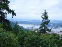 Visión desde él al oeste colinas a Portland O Foto de archivo libre de regalías
