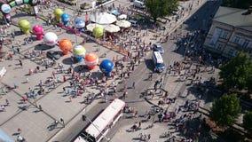 Visión desde arriba Ciudad de De Pologne Czstochowa del viaje de la raza de ciclo Foto de archivo libre de regalías
