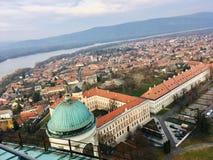 Visión desde arriba de la basílica de Esztergom foto de archivo libre de regalías