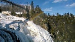 Visión desde arriba de la cascada imagen de archivo libre de regalías
