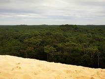 Visión desde arriba de la duna de Pilat, Francia fotos de archivo libres de regalías