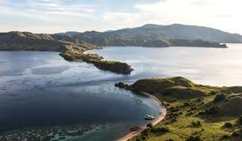 Visión desde arriba de la isla de Gili Lawa Imagen de archivo libre de regalías