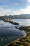 Visión desde arriba de la isla de Gili Lawa Fotos de archivo libres de regalías