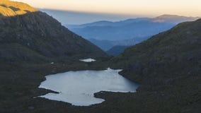 Visión desde arriba de la montaña de Chirripo Fotos de archivo libres de regalías