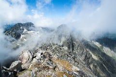 Visión desde arriba de la montaña Lomnicky Stit Imagen de archivo libre de regalías