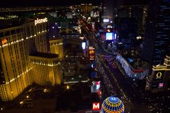 Visión desde arriba de Las Vegas Fotografía de archivo
